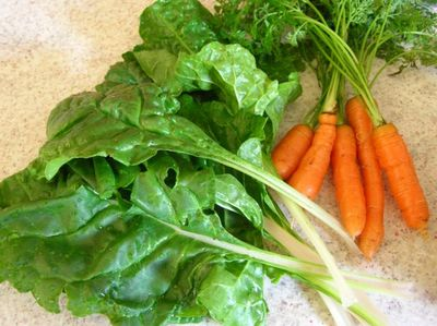 Chard and carrots fr