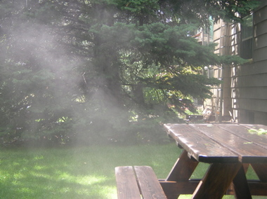 Steaming_picnic_table_after_hail